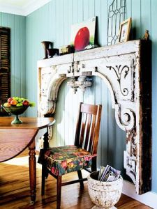 Create a mantelpiece without a fireplace.