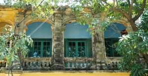 Beautiful colonial arches surround deep shady verandahs.