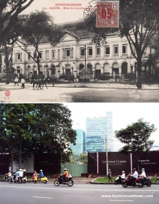 "The Hôtel du Controleur financier building at 12 boulevard Norodom (Lê Duẩn), home to the city museum from 1917-1925 and demolished in 2010 to make way for the ""Lavenue Crown"" development. According to a 2011 article in Tuổi Trẻ newspaper, an architect convinced the authorities that the 1890s building was a fairly recent ""faux-colonial"" structure and therefore had no heritage value."