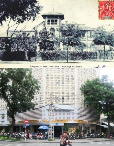 Saigon in the colonial period, and today.