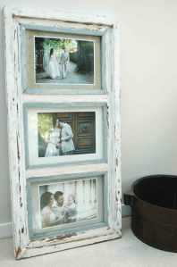 Old windows make gorgeous picture frames.