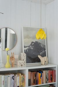 Add a pop of colour with the Autumn Yellow Origami Light.
