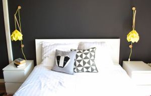 Love them as bedside lights! The work so well with the darker accent wall, but will look lovely against a paler wall too.