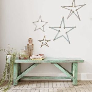 Star Light Star Bright. Gorgeous washi tape stars make magical Christmas wall art.