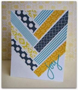 You can have endless fun creating Christmas cards with colourful washi tape.